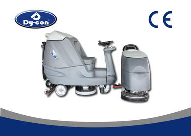 Ride On Industrial Floor Cleaning Machines Battery Powered  Rubber Blade